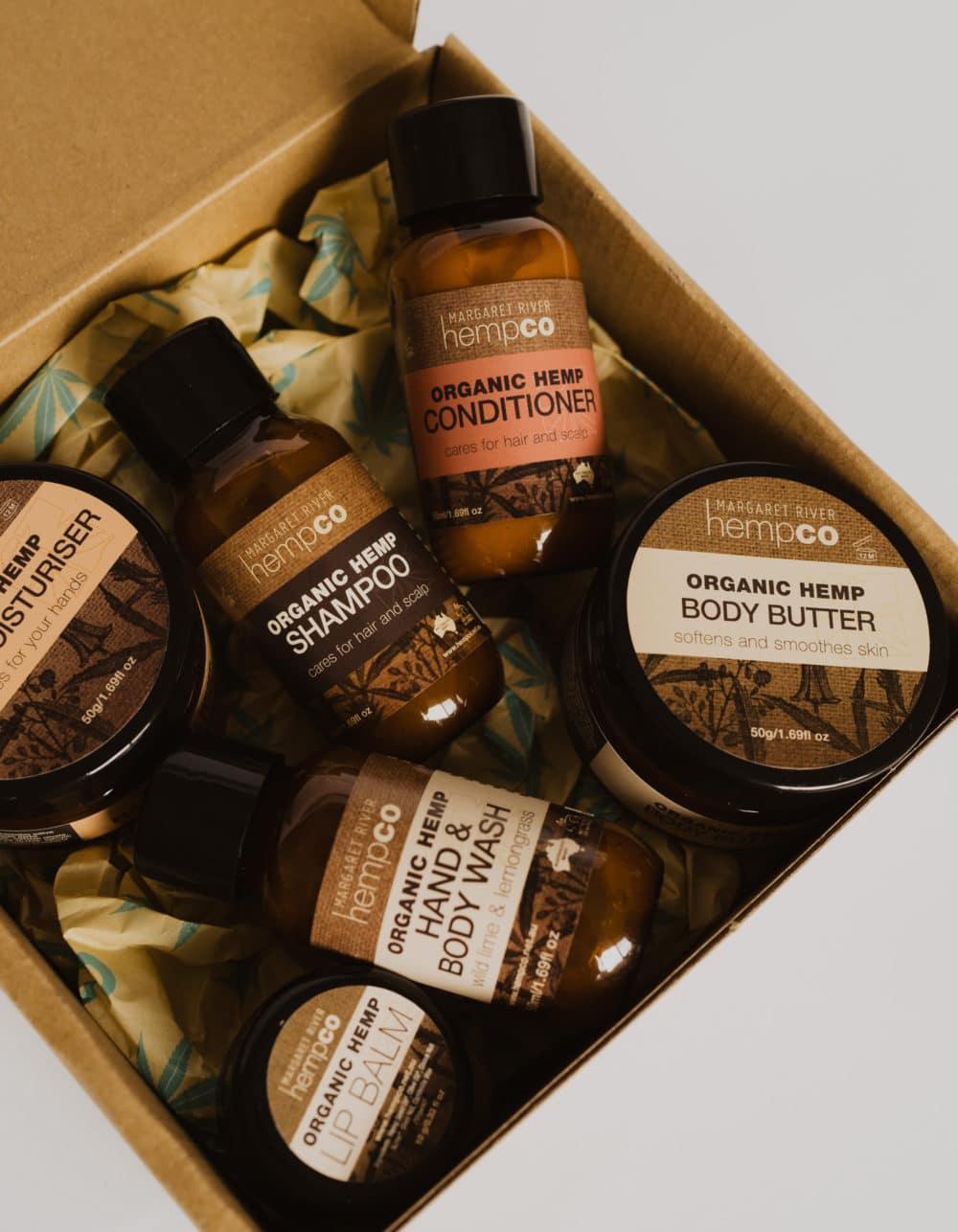 Hemp 'Travel Essentials' Gift Box