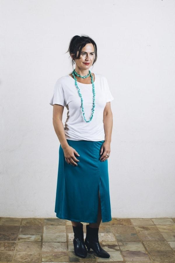 Ladies' Bamboo 3/4 length - Split Skirt