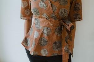 Ladies Hemp Wrap Shirt