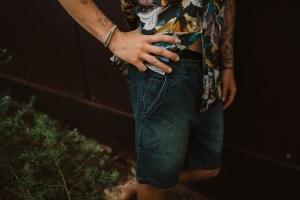 Men's Hemp Denim Shorts