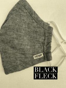 Hemp Face Mask Black Fleck