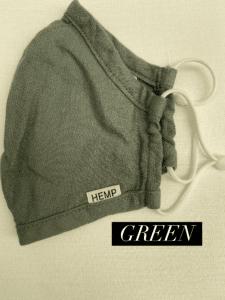 Hemp Face Mask Green