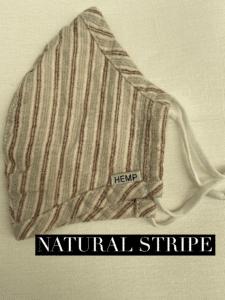 Hemp Face Mask Natural Stripe