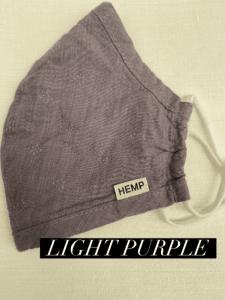 Hemp Face Mask Light Purple