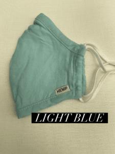Hemp Face Mask Light Blue