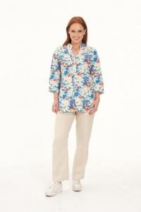 Ladies Hemp Shirt Floral