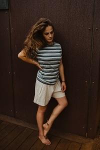 Ladies Hemp Stripe T.Shirt