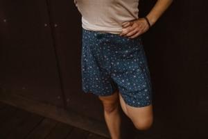 Ladies Hemp Shorts Floral