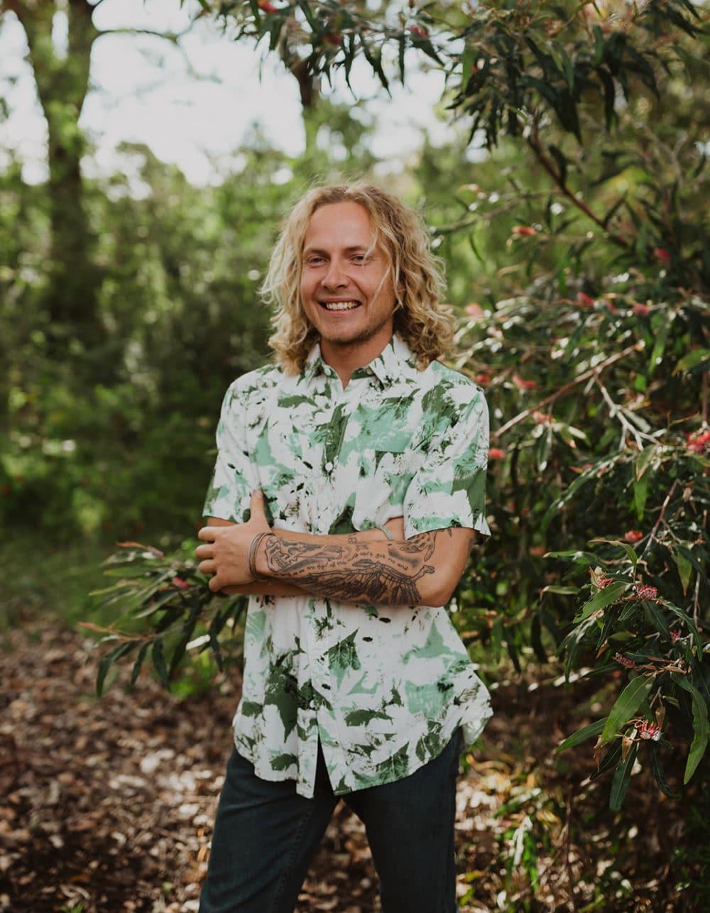 Men's Bamboo Print Hemp Shirt