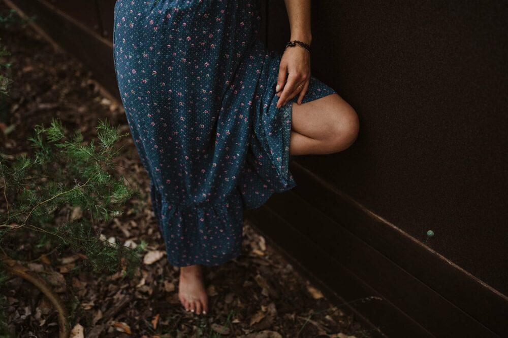 Hemp Dress Maxi Blue