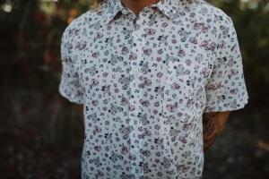 Men's Hemp Shirt Floral