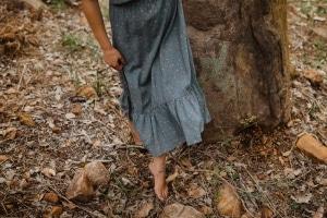 Hemp Dress Maxi Grey