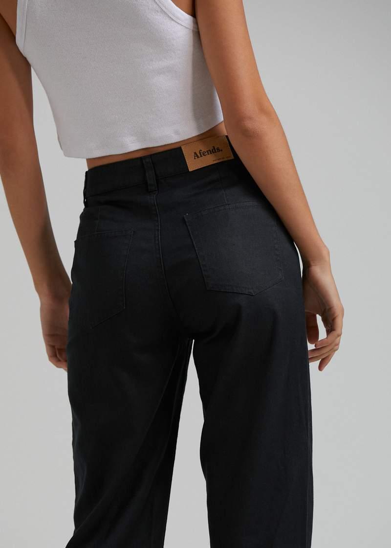hemp pants black