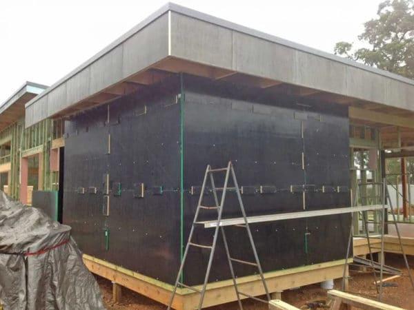 Hempcrete House In Construction