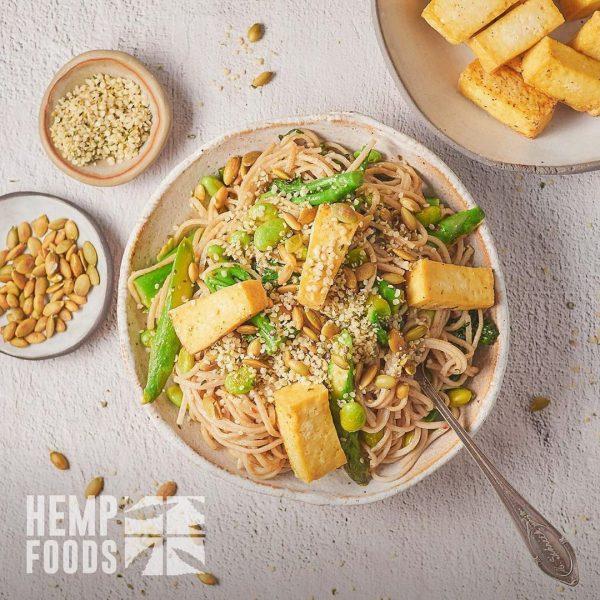 Green Tofu Ramen with Hemp Seed