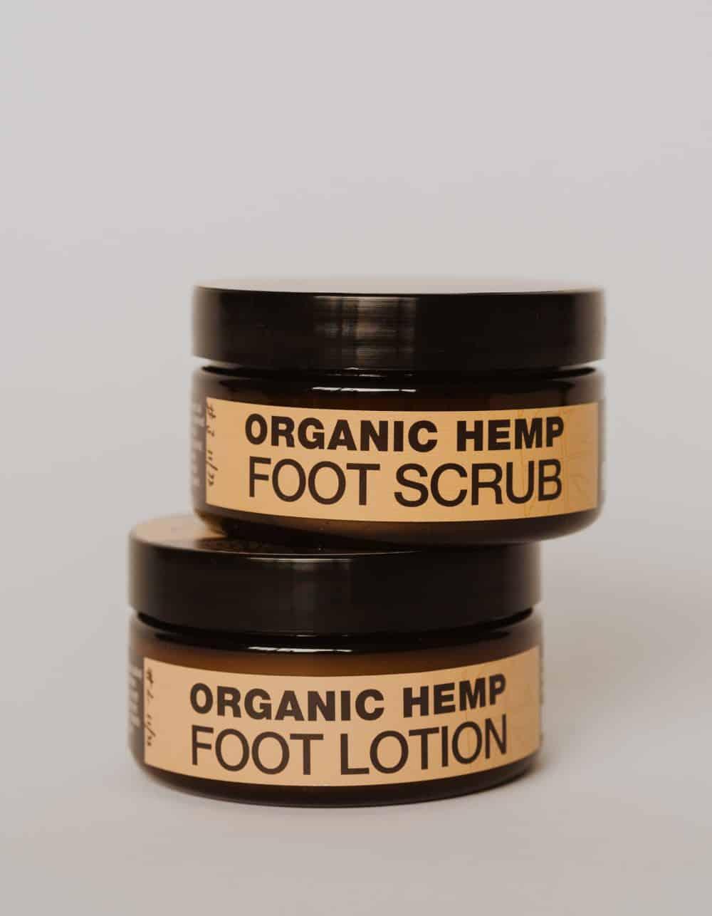 Hemp Foot Scrub & Lotion