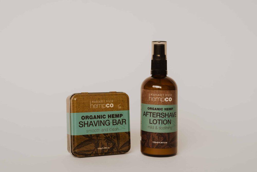 Men's hemp Shaving Bar and Aftershave