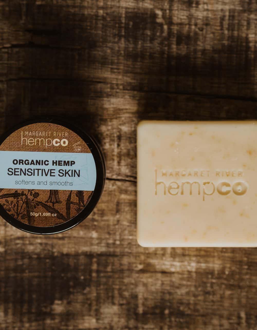 Sensitive Skin Bundle - Hemp Moisturiser & Lavender Soap