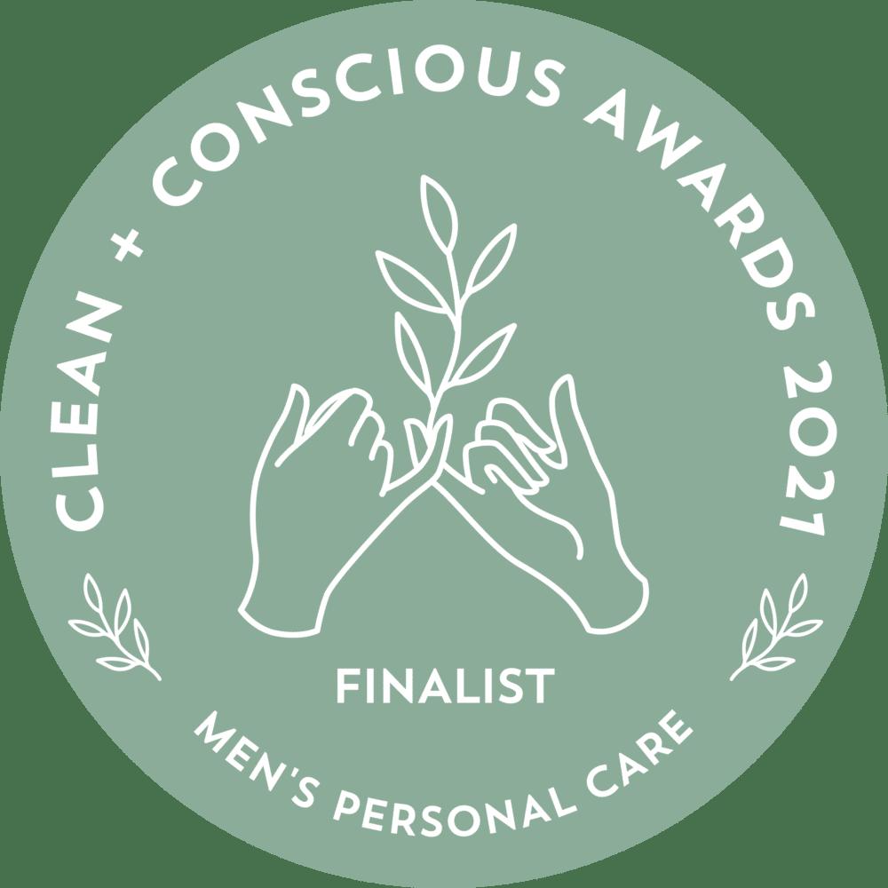clean & conscious awards 2021- finalist - men's personal care