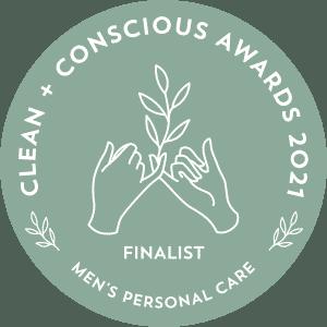 Clean Conscious awards 2021 finalist - men's personal care