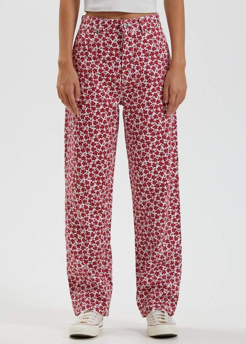 Hemp Red Pants